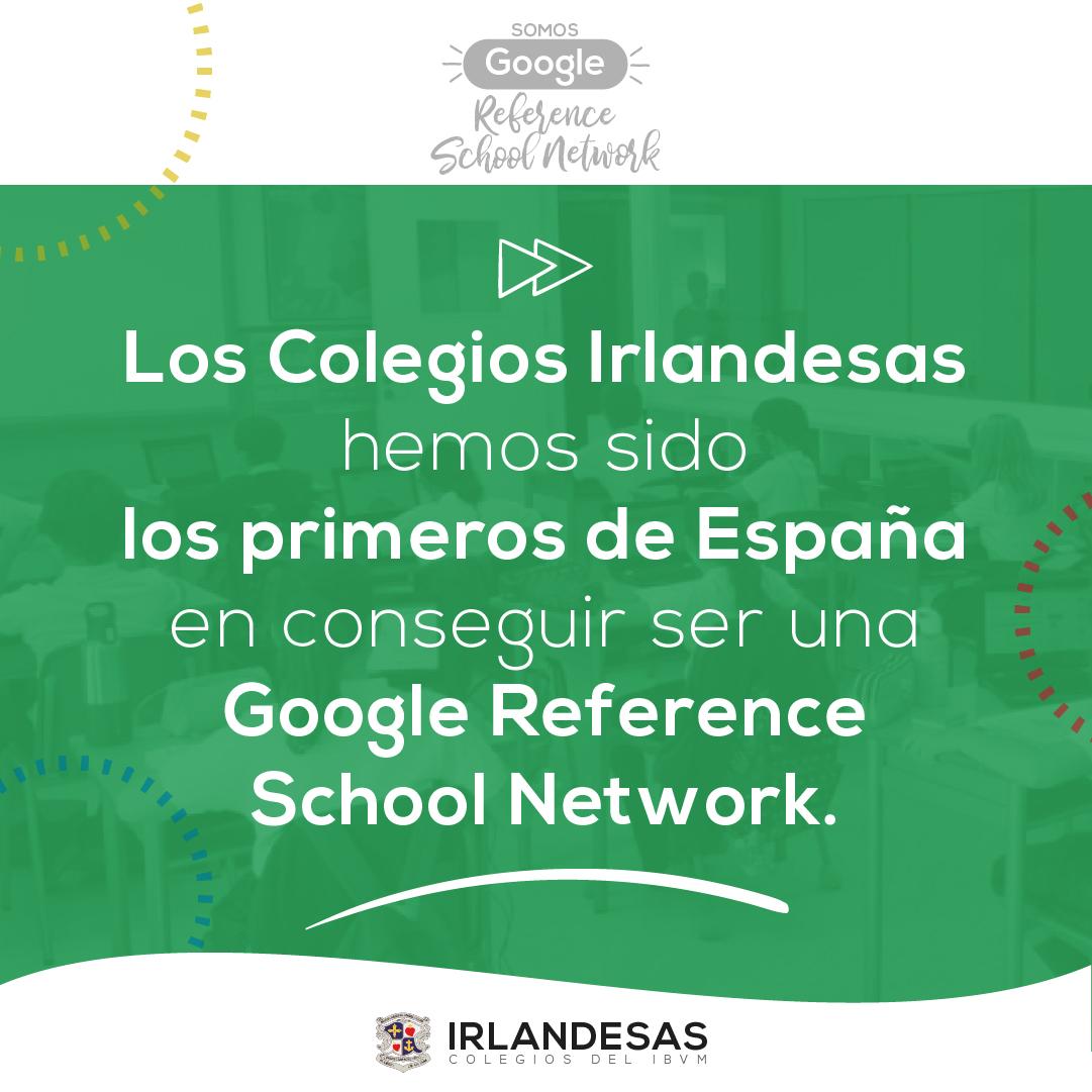 Colegios Irlandesas somos Google Reference Network
