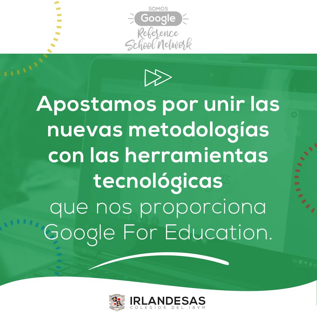 Apostamos por innovación y tecnología · Colegios Irlandesas